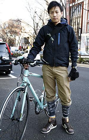 自転車の 自転車 冬 服装 ユニクロ : 自転車 ファッション